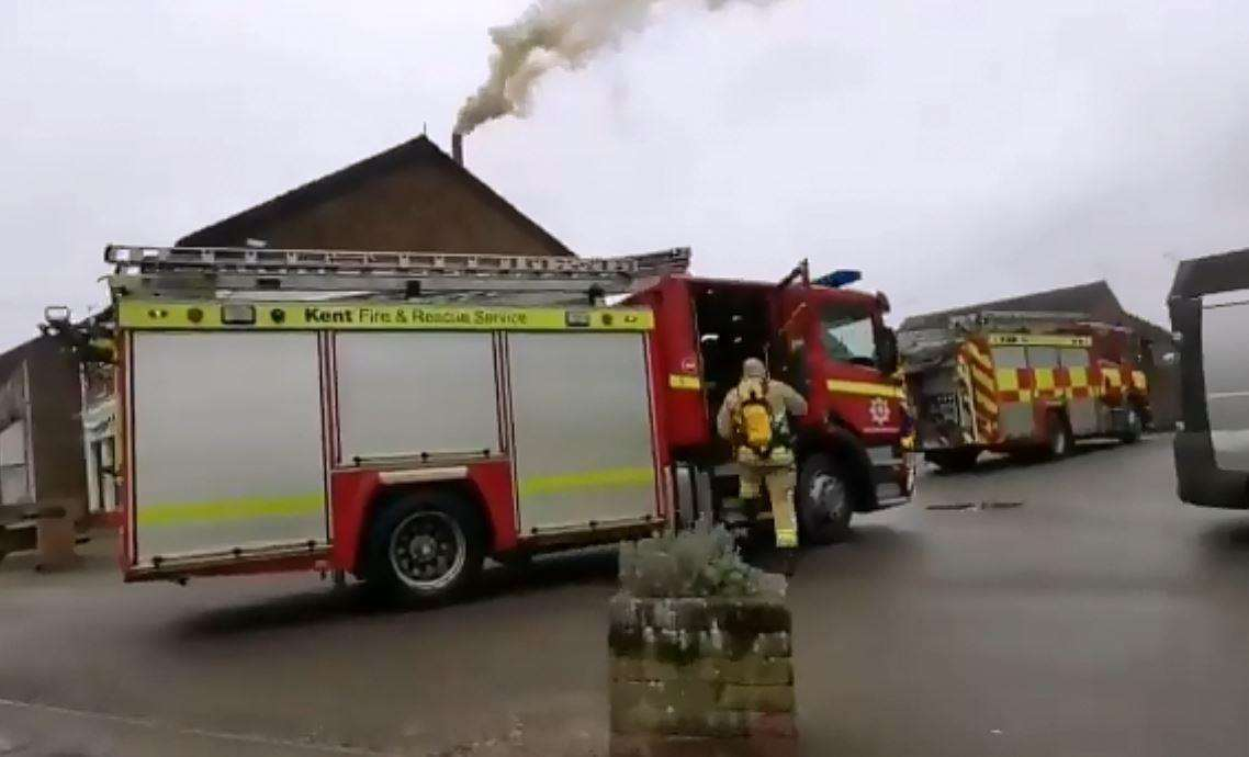 Firefighters are at The Paddock in Maidstone Road, Paddock Wood. Image RB Photography