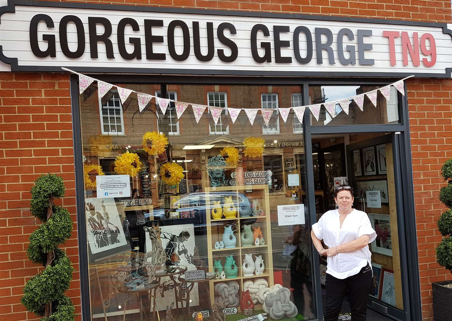 Teresa Seamer is the owner of Gorgeous George in Tonbridge and is looking forward to welcoming customers back