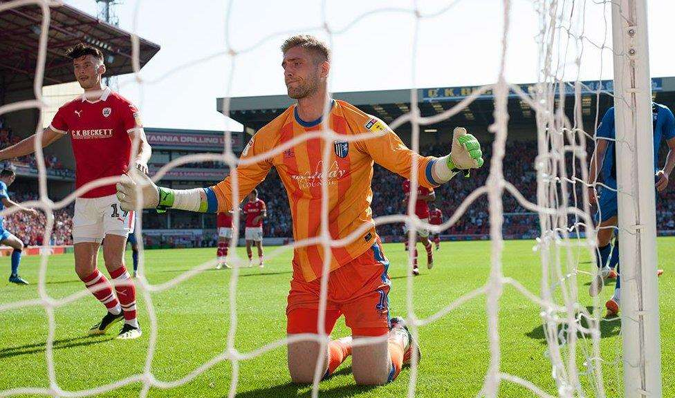 Tomas Holy can't keep out Kieffer Moore's penalty Picture: Ady Kerry (3915398)