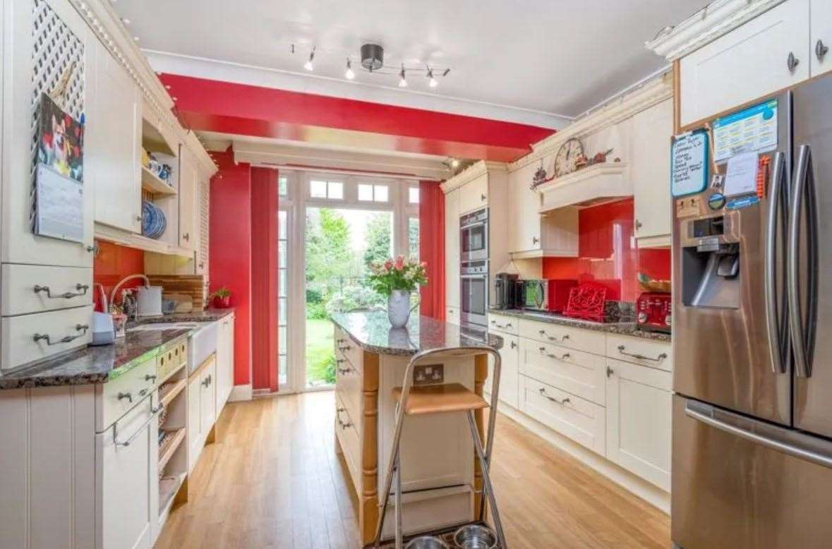 The kitchen opens out onto the garden. Picture: Zoopla / Park Estates