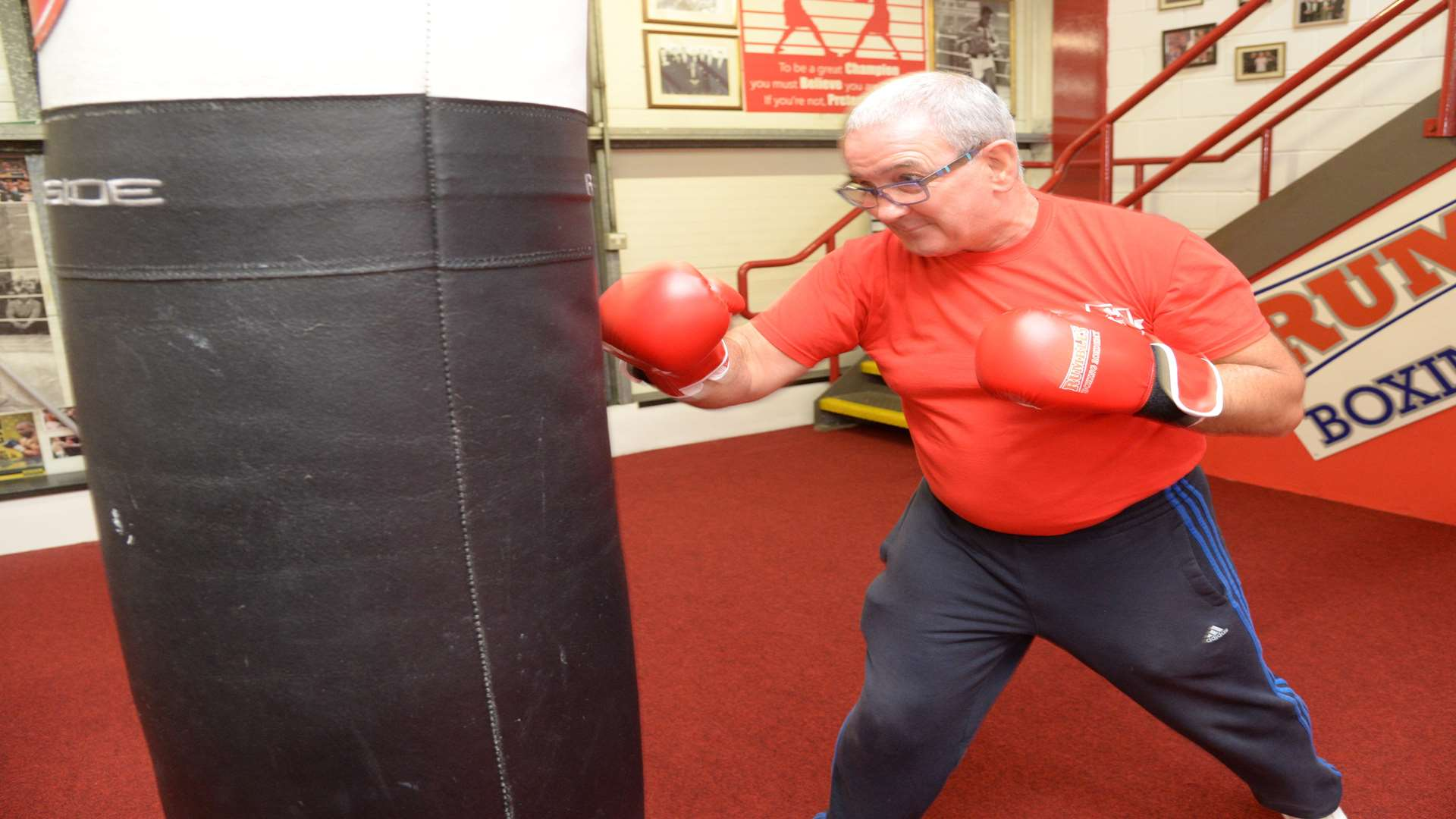 Charlie Rumble at the reopened Rumbles Boxing Academy