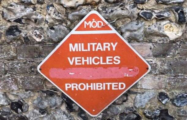 A sign of the times, though perhaps not the modern era – but don't park your tank here