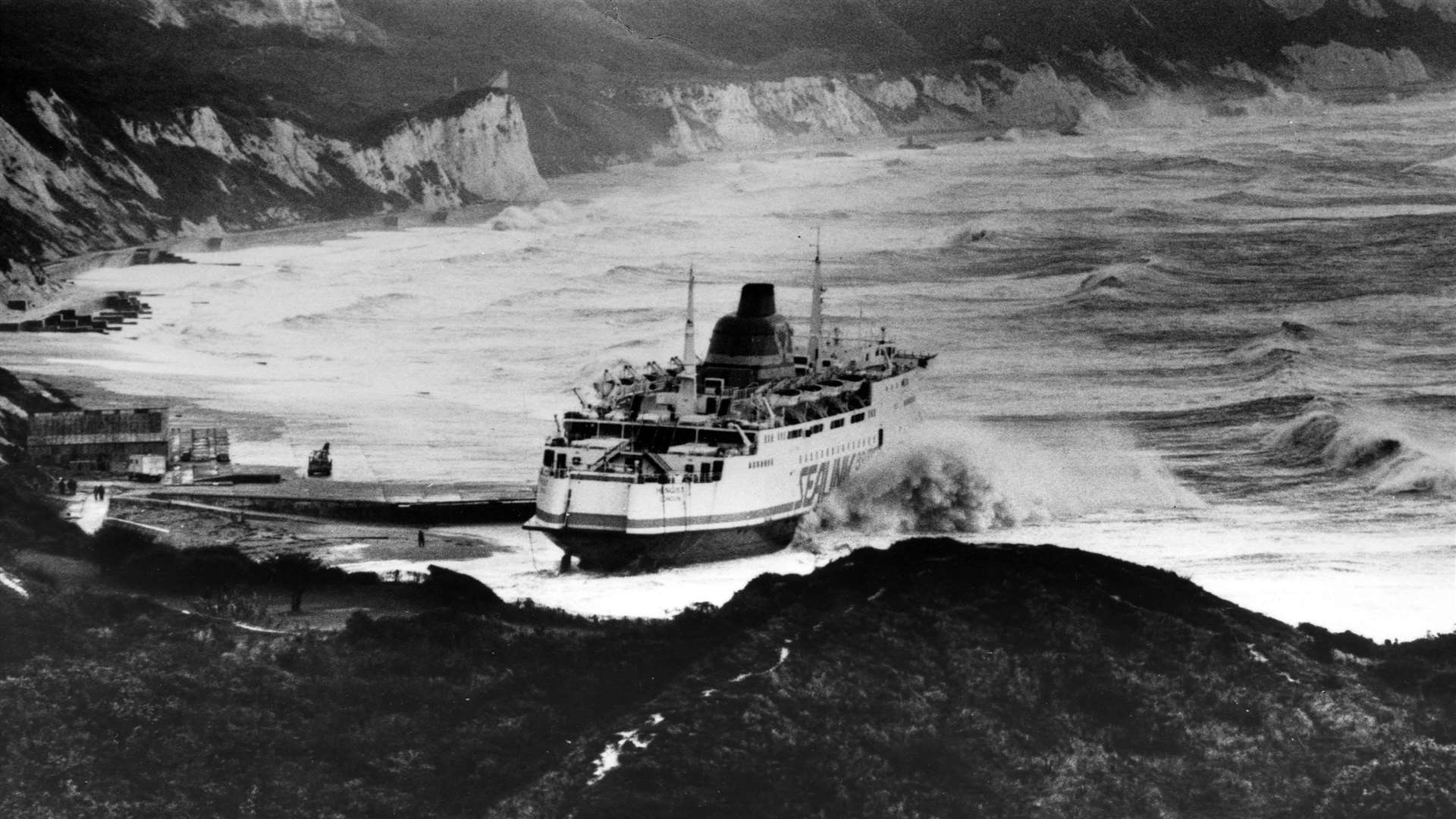 The picture of the ship Kent residents might be more familiar with when she was called Hengist and beached off Folkestone during the 1987 storms. Picture: Paul Amos