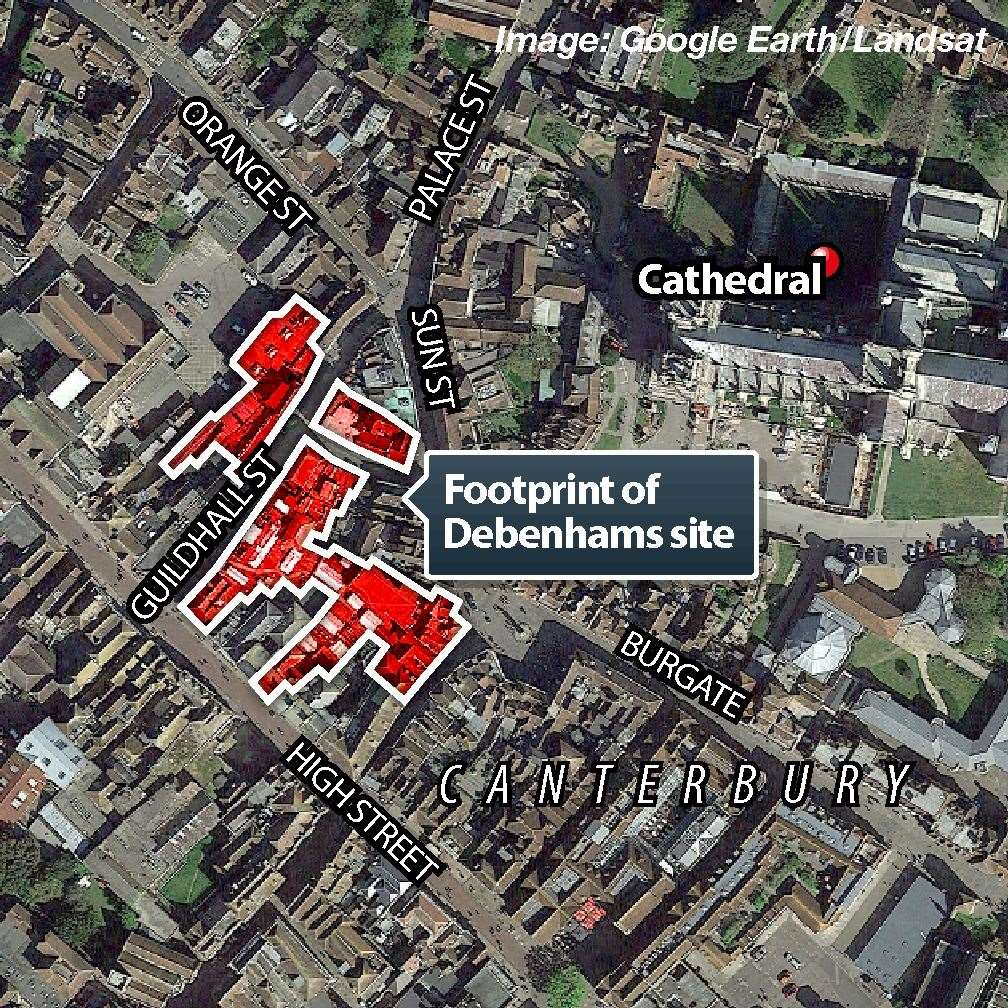 The footprint of the Debenhams site (13639490)