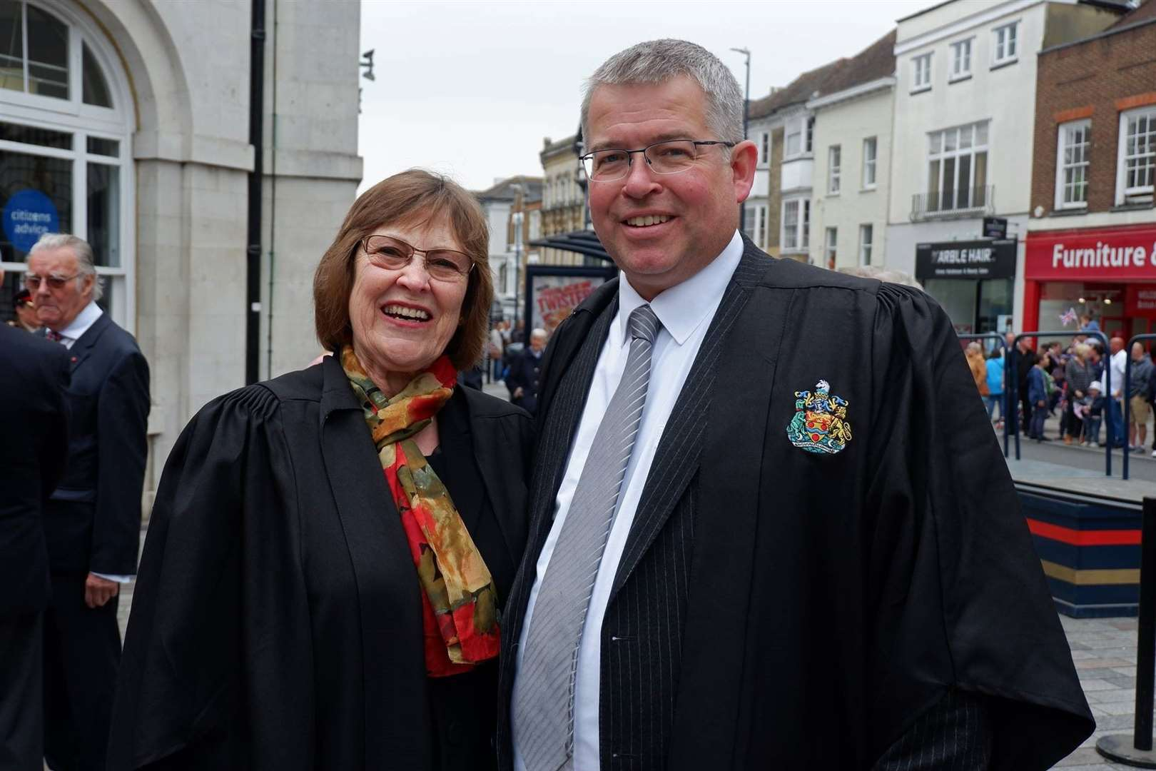 The bid for secret talks was proposed by council leader Martin Cox (right). Pictured with Cllr Fay Gooch.