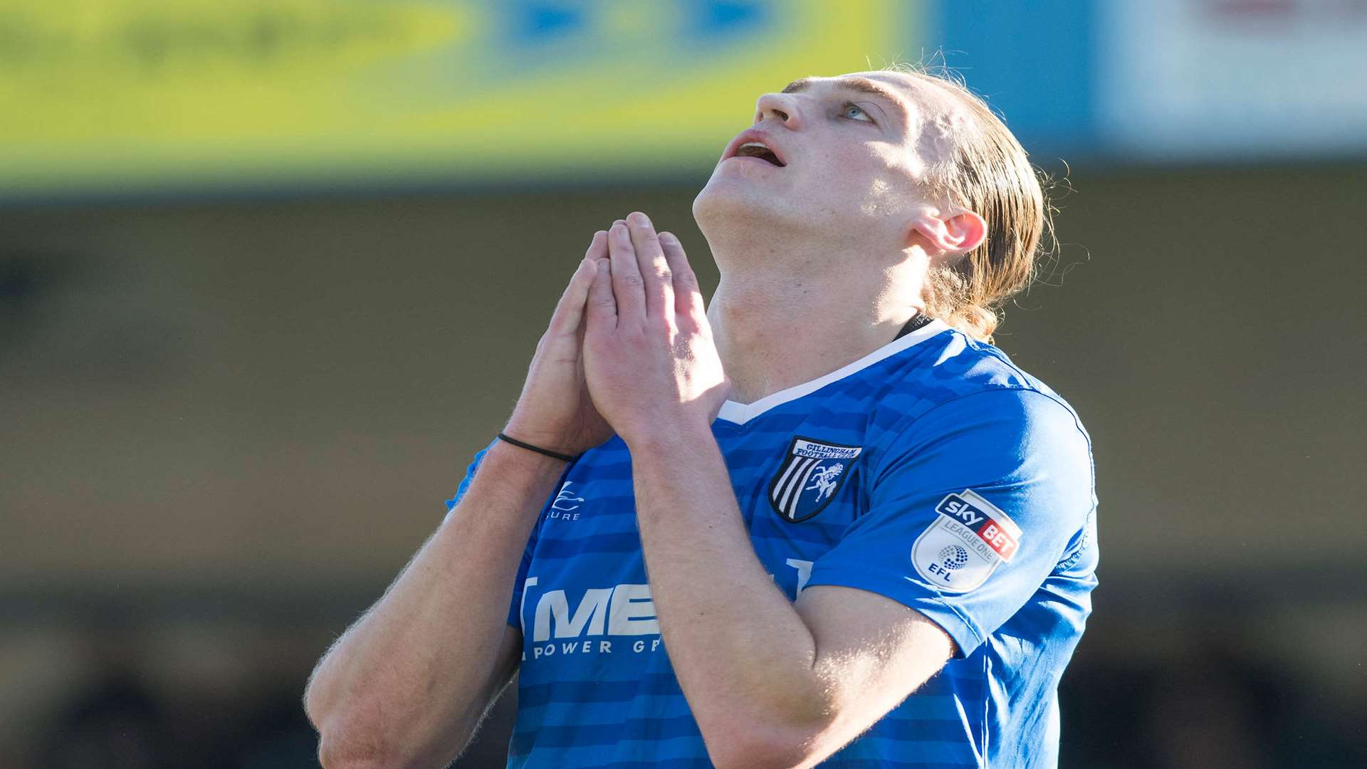 Gills striker Tom Eaves on Saturday Picture: Andy Payton