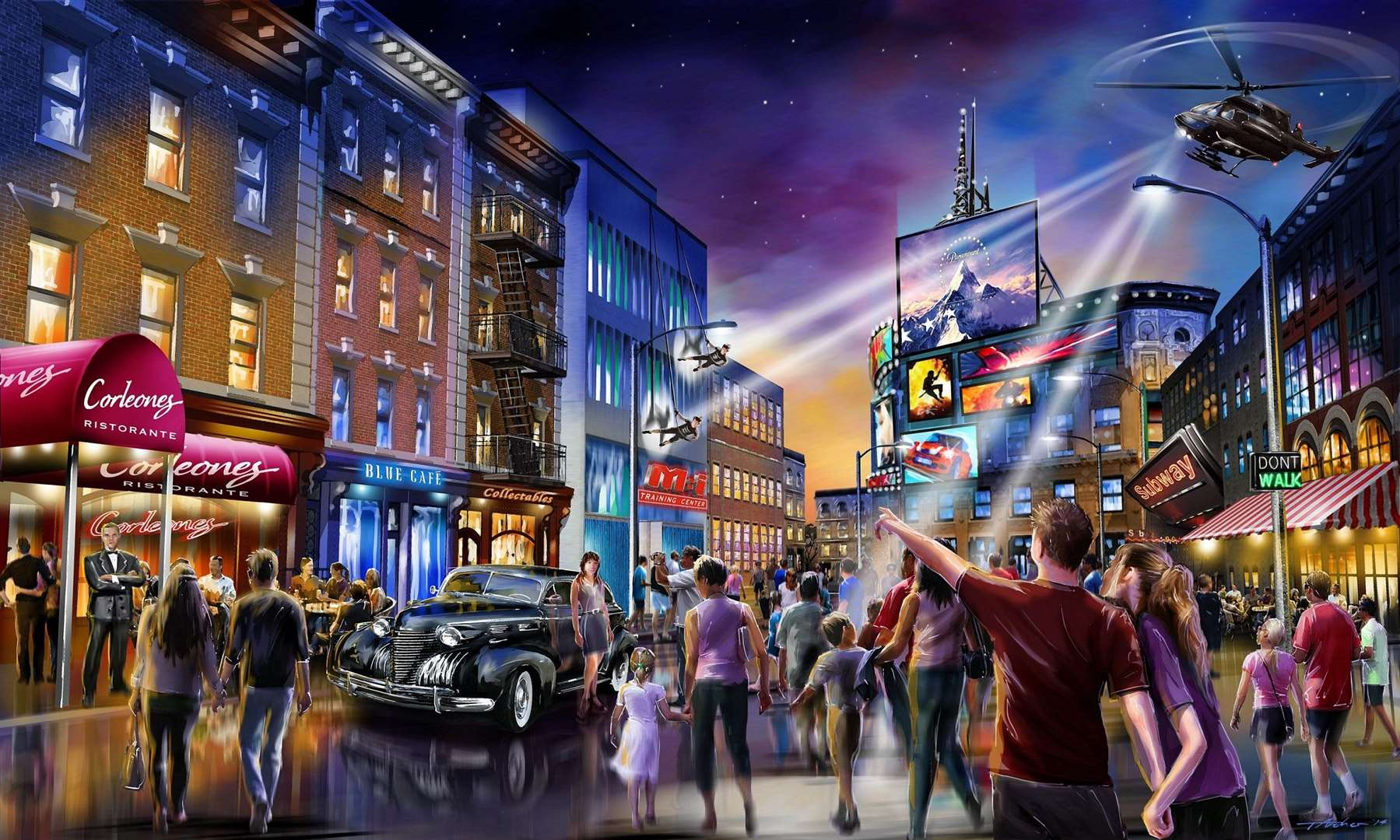 The £5 billion entertainment complex struck a deal with Hollywood film studio Paramount earlier this year.