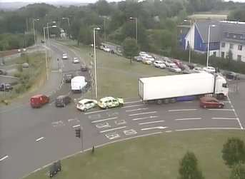 Drovers roundabout during the incident