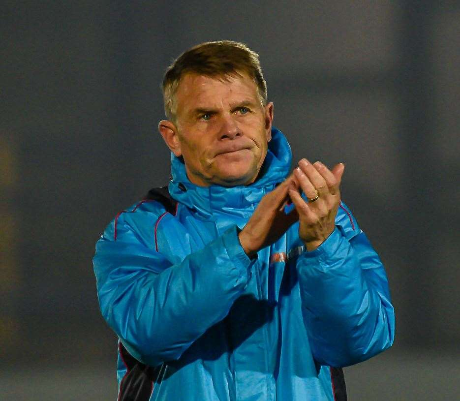 Dover Manager Andy Hessenthaler. Picture: Alan Langley. (6206974)