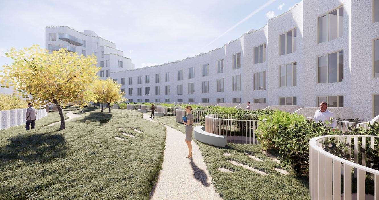 It will sit right on the beach. Picture: Folkestone Harbour and Seafront Development Company