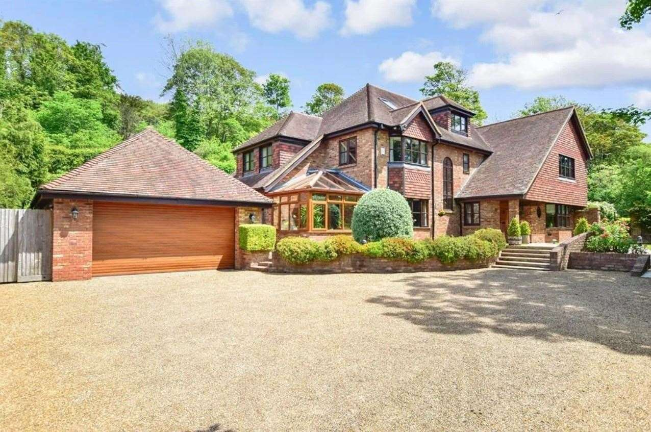 The seven-bed detached house in Chisnall Road, River. Picture: Zoopla / Fine & Country