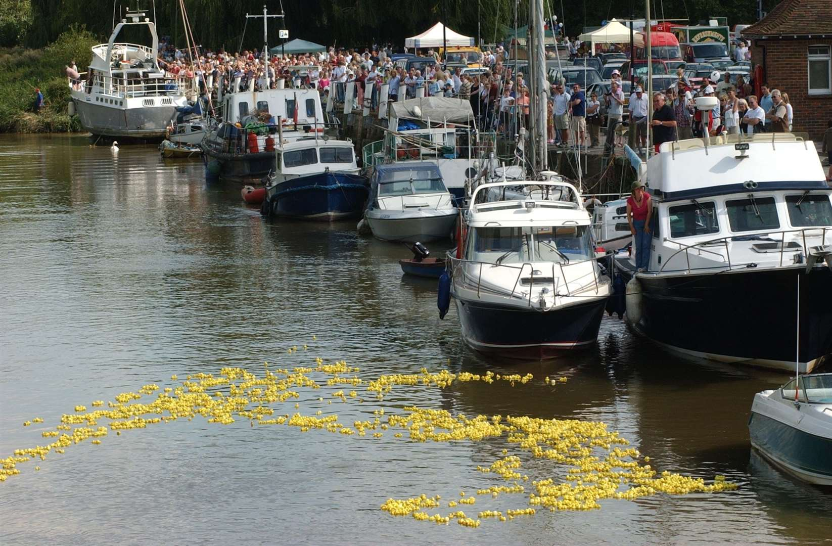 The annual Duck Race in Sandwich was postponed this year Picture: Terry Scott