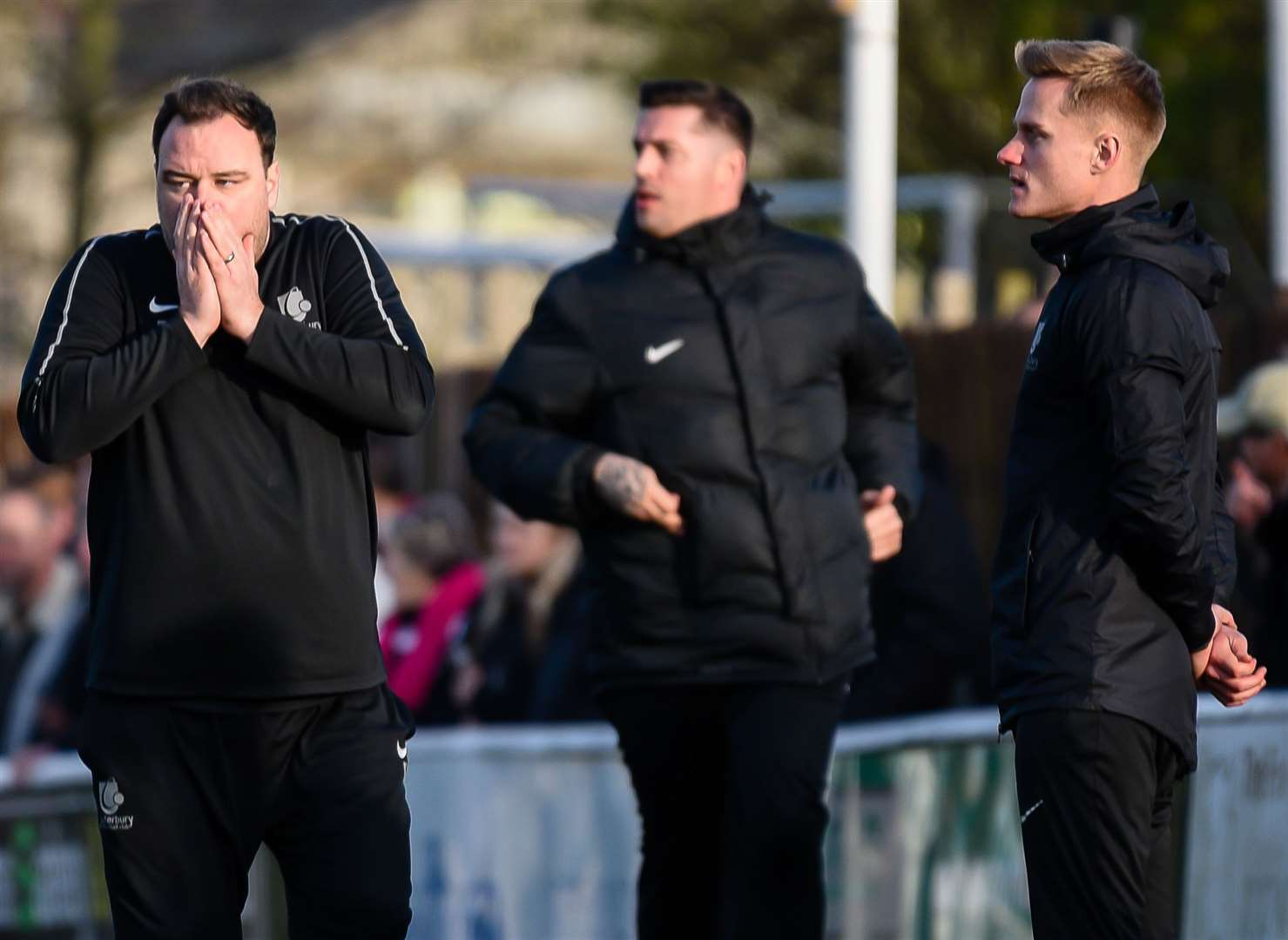 Canterbury manager Ben Smith with coaches Will Graham and Ben Brown Picture: Alan Langley