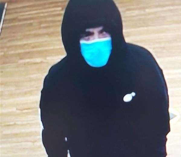 Police call for information following a robbery in Folkestone.  Photo: Kent Police