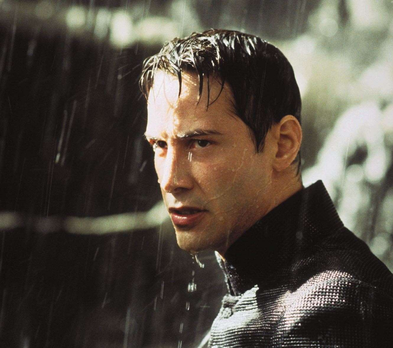 Keanu Reeves in one of the trilogy, The Matrix Revolutions by Warner Bros