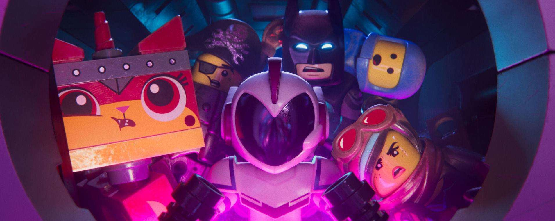 Unikitty (voiced by Alison Brie), MetalBeard (Nick Offerman), General Mayhem (Stefanie Beatriz), Batman (Will Arnett), Benny (Charlie Day) and Lucy (Elizabeth Banks). Picture: PA Photo/Warner Bros. Entertainment Inc