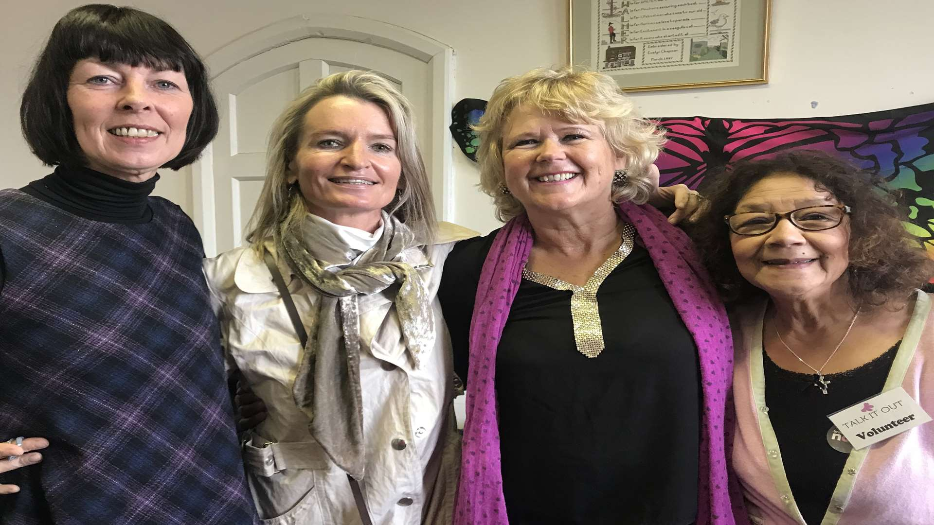 Hayley with friends Debbie Haynes, Tracy Carr and Marie Jordan at the Talk It Out wellbeing centre in Deal