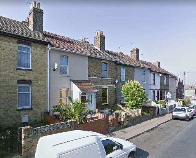 The tragedy occurred in an alleyway behind these homes where Bill Street Road turns into Cooling Road. Picture: Google Maps