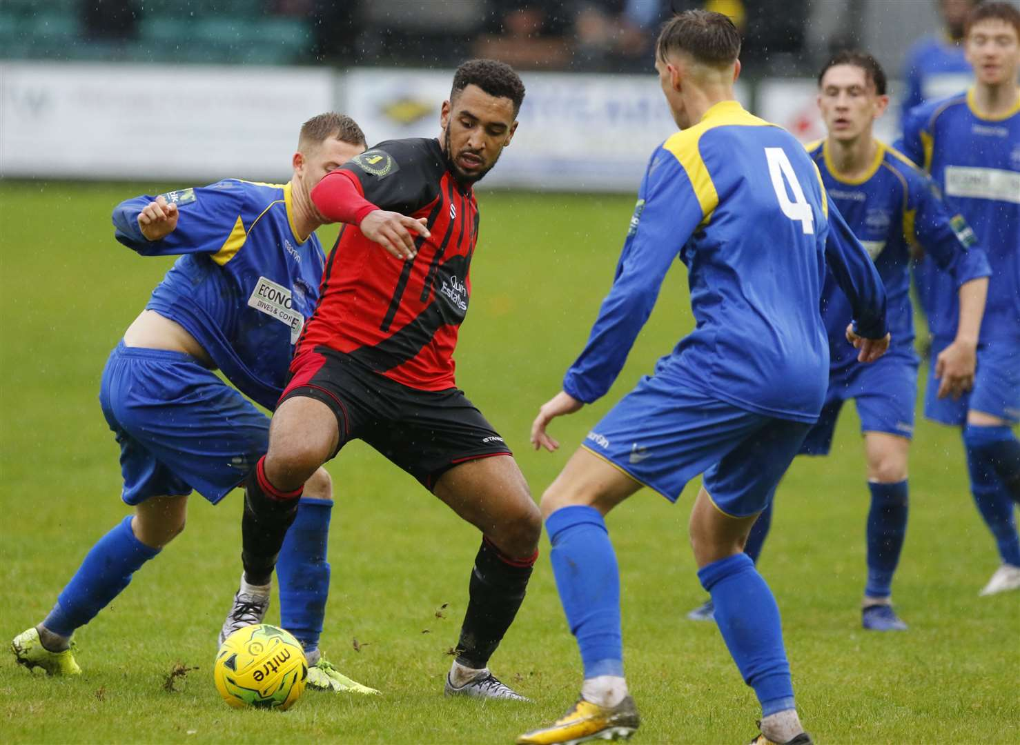 Sittingbourne (red) take on South Park in last season's FA Vase competition. Picture: Andy Jones