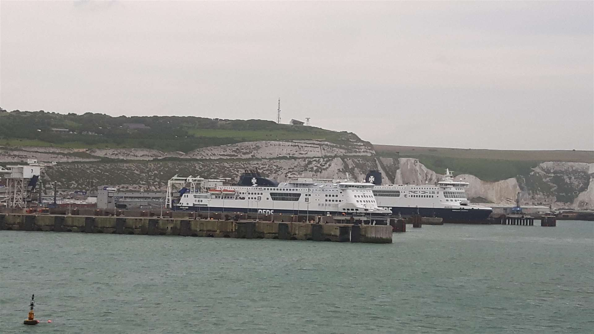 Dover cliffs and Eastern Docks