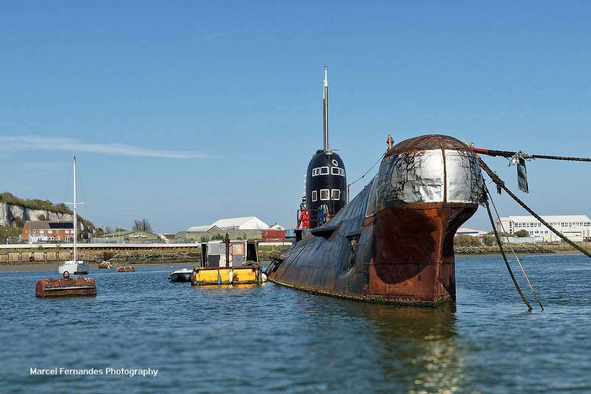 Russian submarine in Strood, called U-475 or Black Widow. Picture: Marcel Fernandes