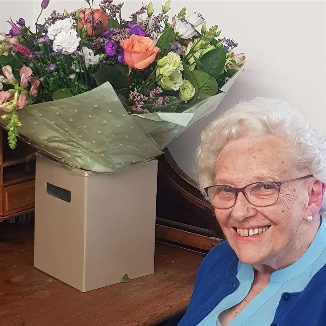 Muriel Taylor - still smilng after 70 years in the same job