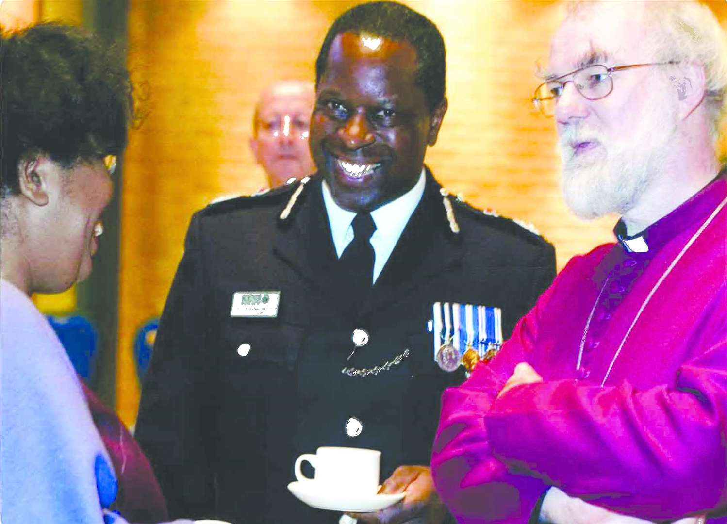 Michael Fuller alongside former Archbishop of Canterbury Dr Rowan Williams