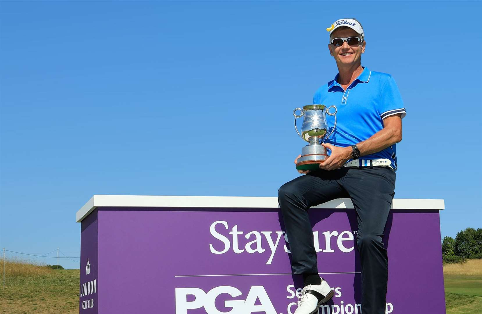 Phil Golding, last year's winner of the PGA Seniors Championship