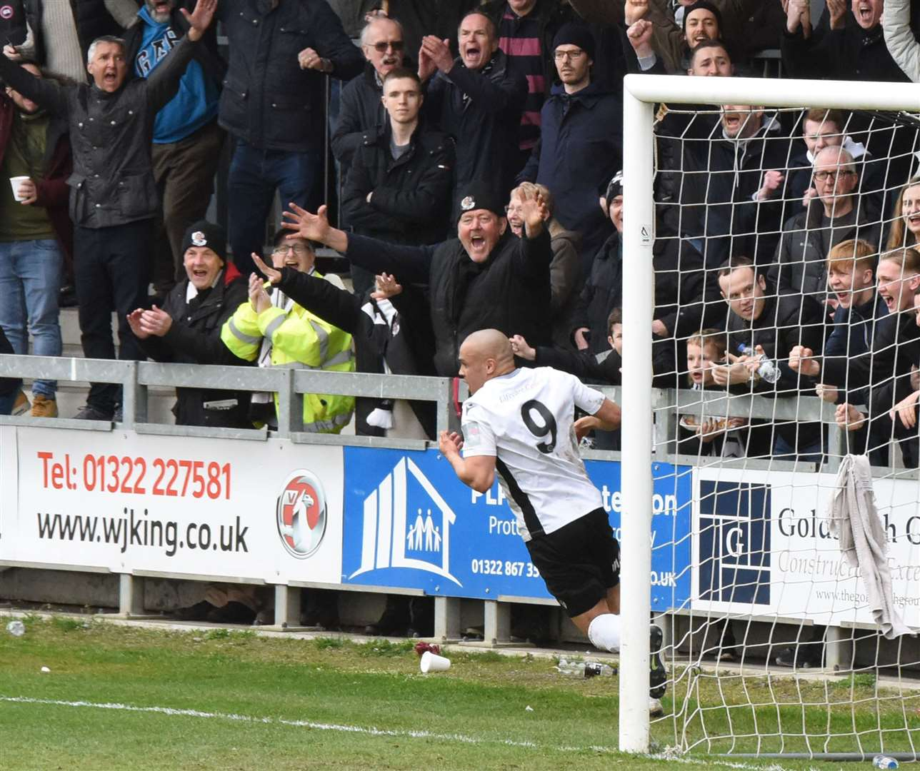 Dartford no.9 Elliott Romain has made a terrific impact since signing in October Picture: Ken Mears