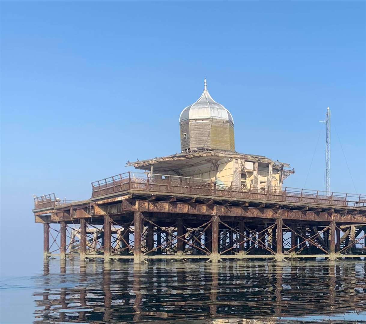 Sonja Earl believes more should be done to protect the pier head. Picture: Sonja Earl (16012222)