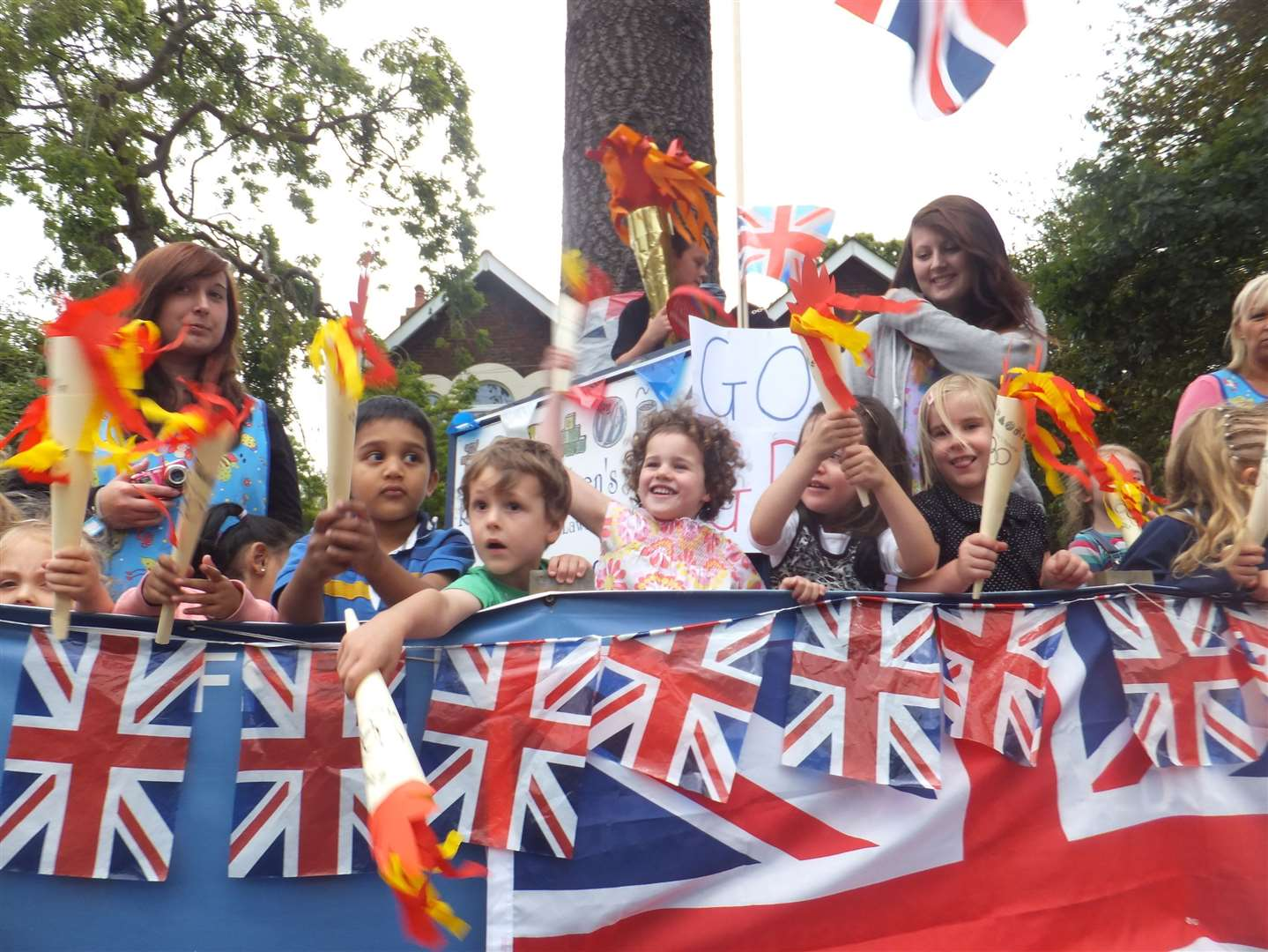 Children from Rainbow Children's Nursery, in Hythe Road, Ashford