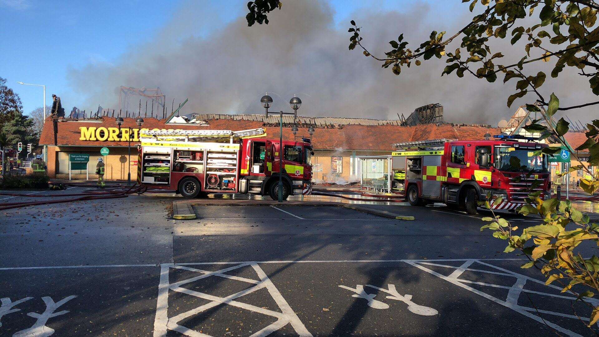 The roof of the supermarket collapsed. Picture: Daisy Philpott
