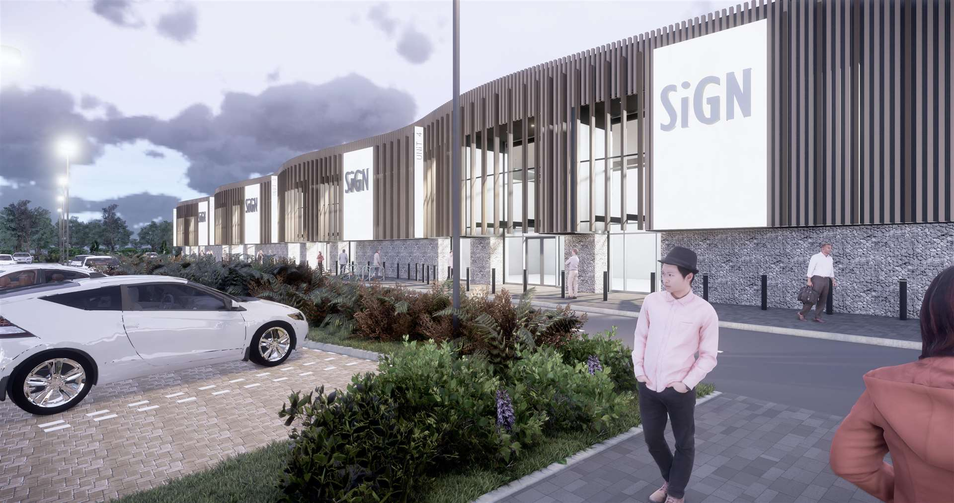How the retail park could look