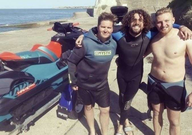 Steve Paxman, Josh Cox and Ryan Heywood just before the rescue took place