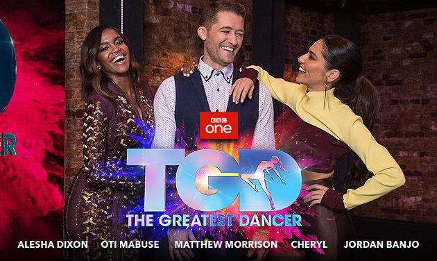 Captains Oti Mabuse, Matthew Morrison and Cheryl on The Greatest Dancer. Picture: BBC