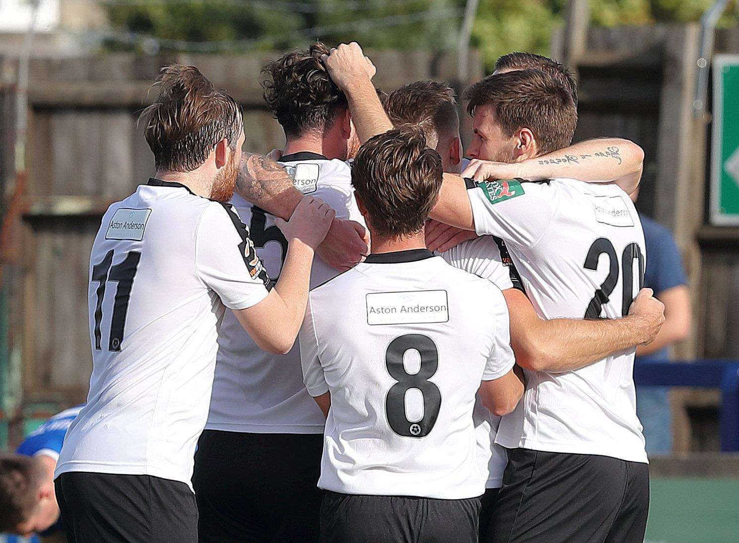 Dartford celebrate at Chippenham Picture: Richard Chappell