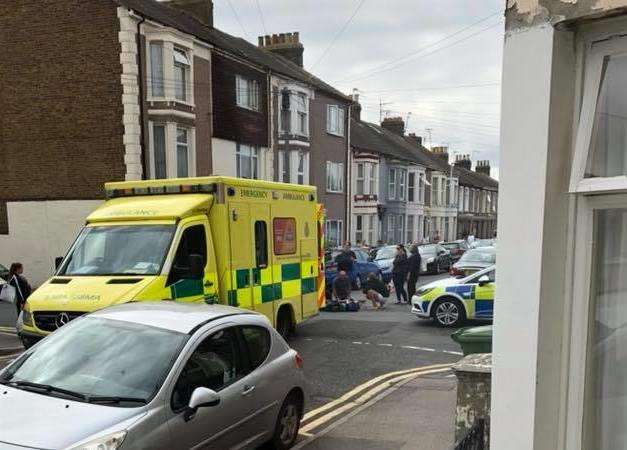 Police and ambulance crews were called to Alma Road, Sheerness, on Monday, August 20