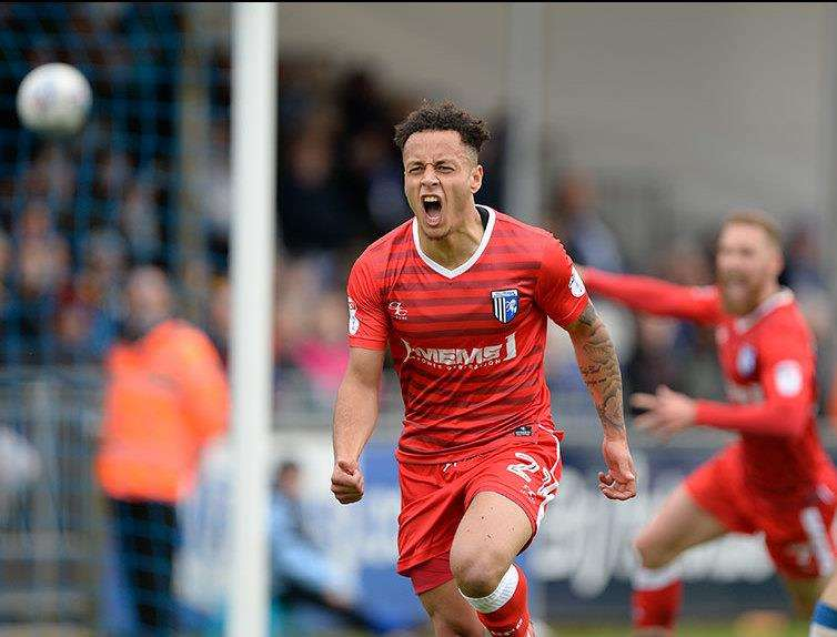 Elliott List celebrates scoring for the Gills Picture: Ady Kerry