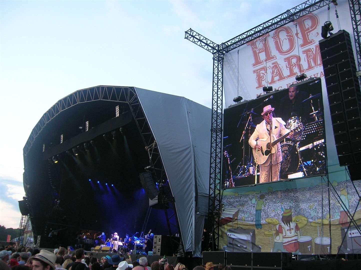 Van Morrison takes the stage at the Hop Farm Festival back in2010