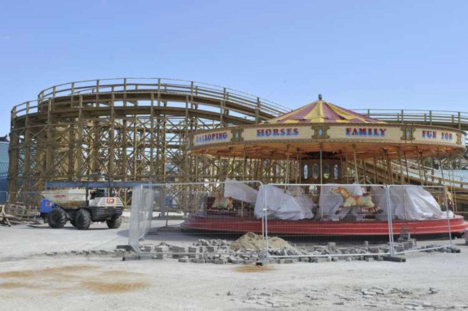 During the renovation of Dreamland.