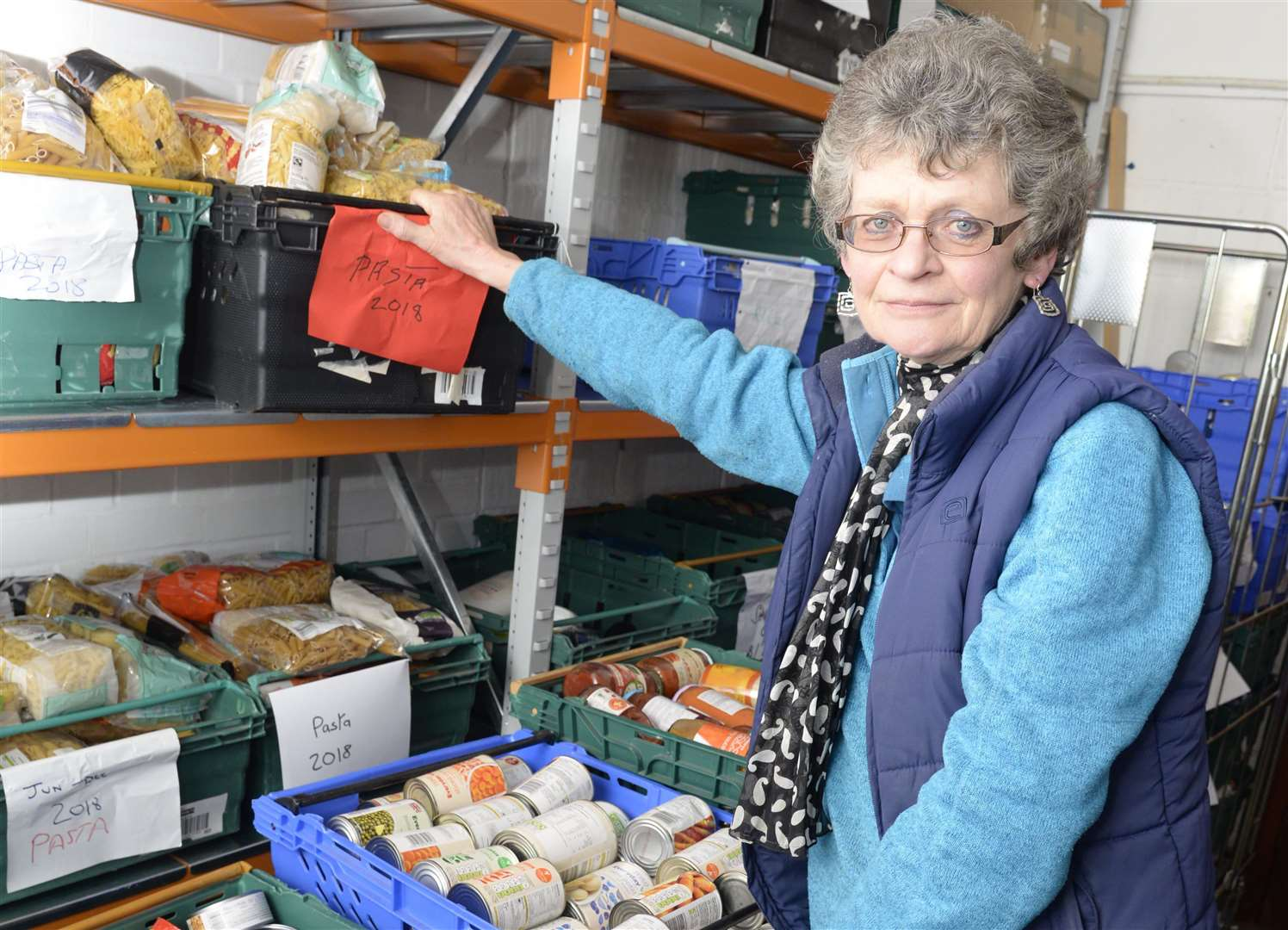 Project coordinator Sheila Ward made the decision to close the foodbanks in exchange for a home delivery service Picture: Chris Davey