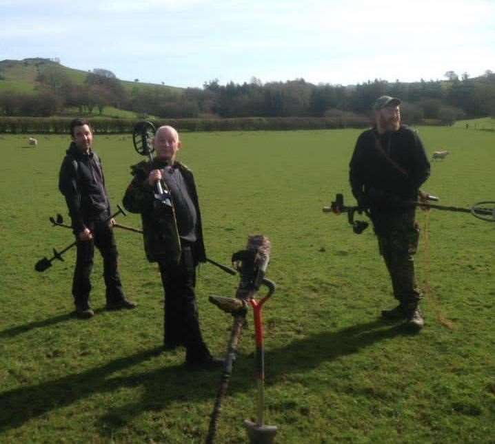 Members of the Kent and Medway Metal Detecting Groups