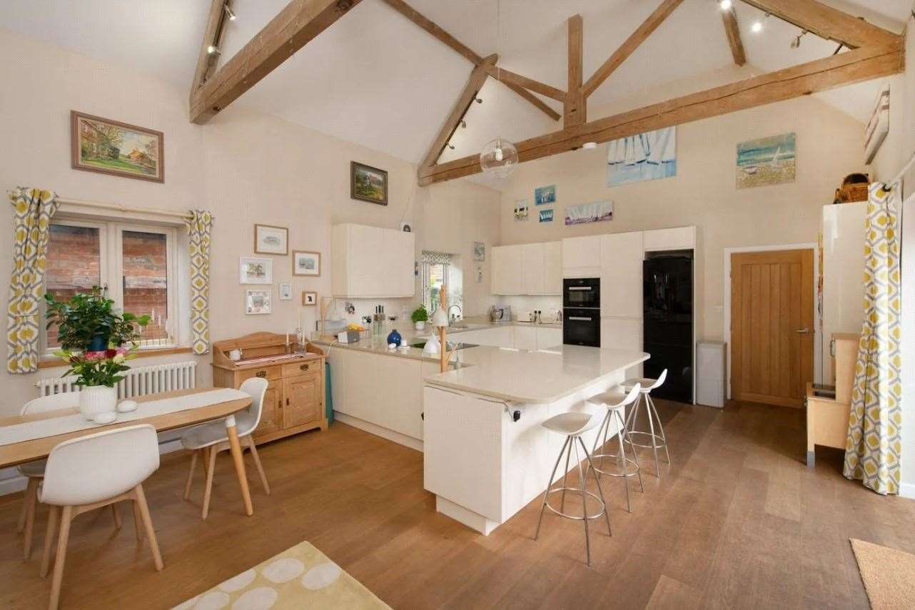 The kitchen includes a Miele double oven. Picture: Zoopla / Winkworth - Canterbury