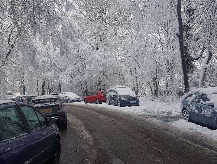Cars have been abandoned on Walderslade Wood Road. Pic from Paul Burch.