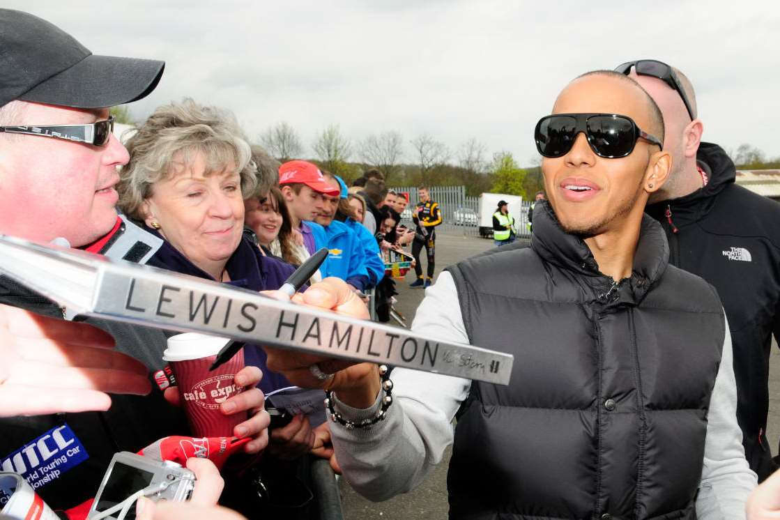 Hamilton at Brands Hatch in 2011. Picture: Simon Hildrew