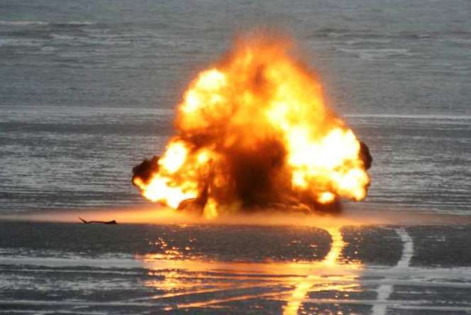 Ministry of Defence team was called in to explode the shells