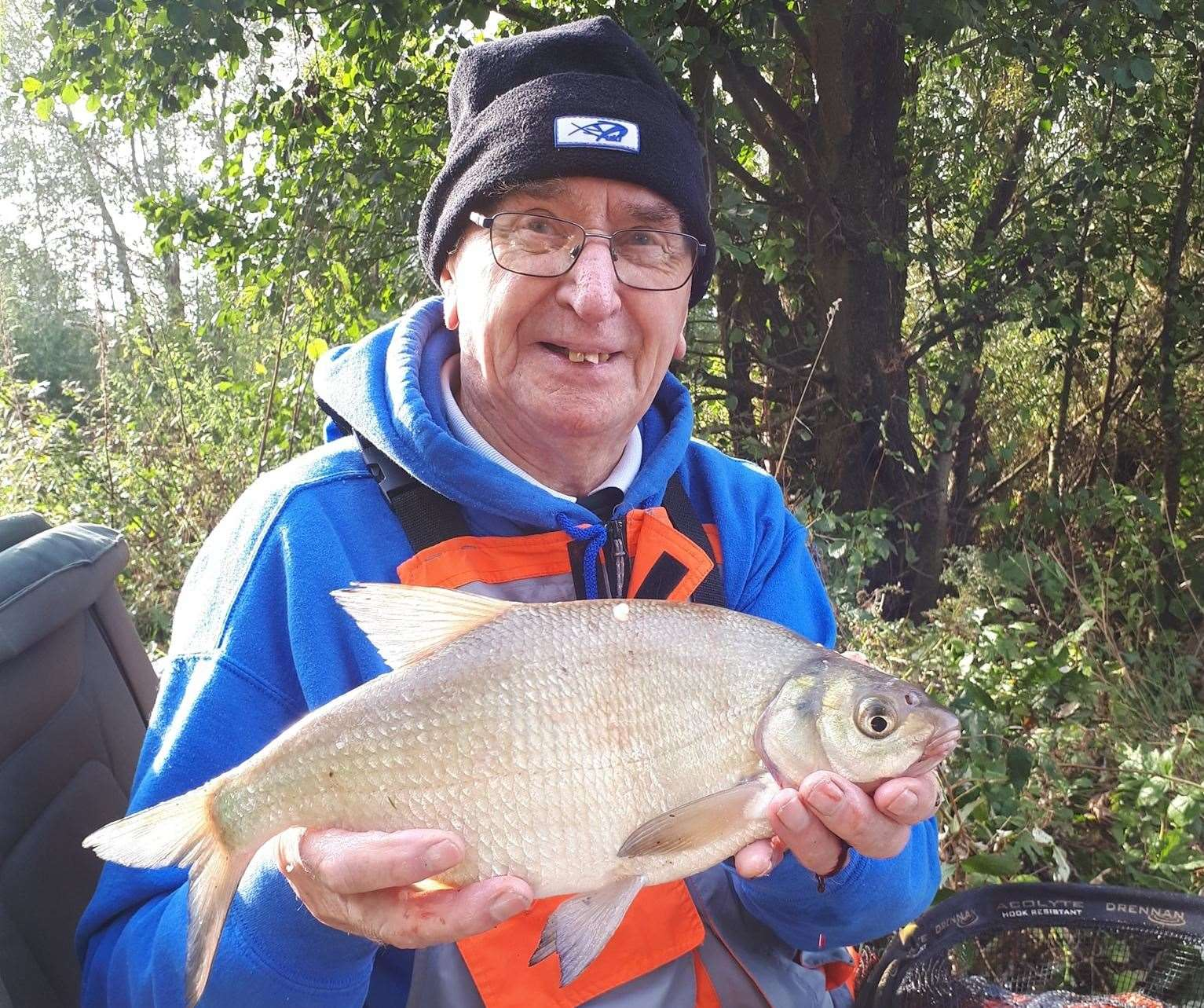 John Wells with a bronze bream. (42855120)