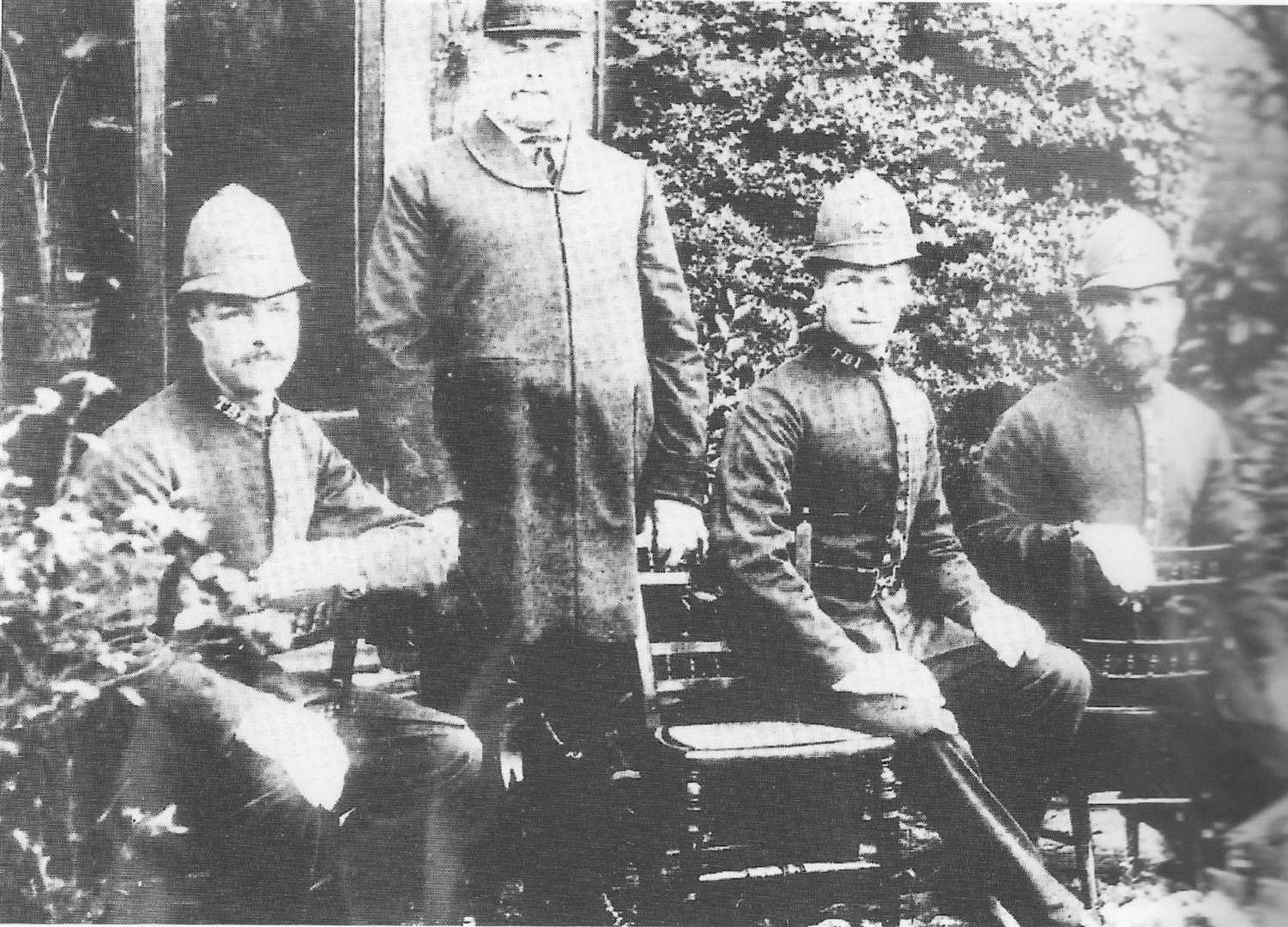 Officers from Tenterden Police Station in the 1880s. Picture: Christine Hickmott-Arnold
