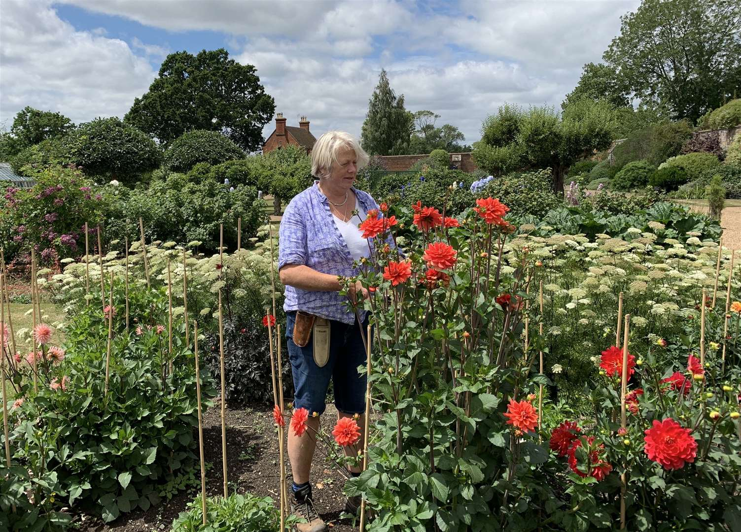 Godinton House head gardener Viv Hunt