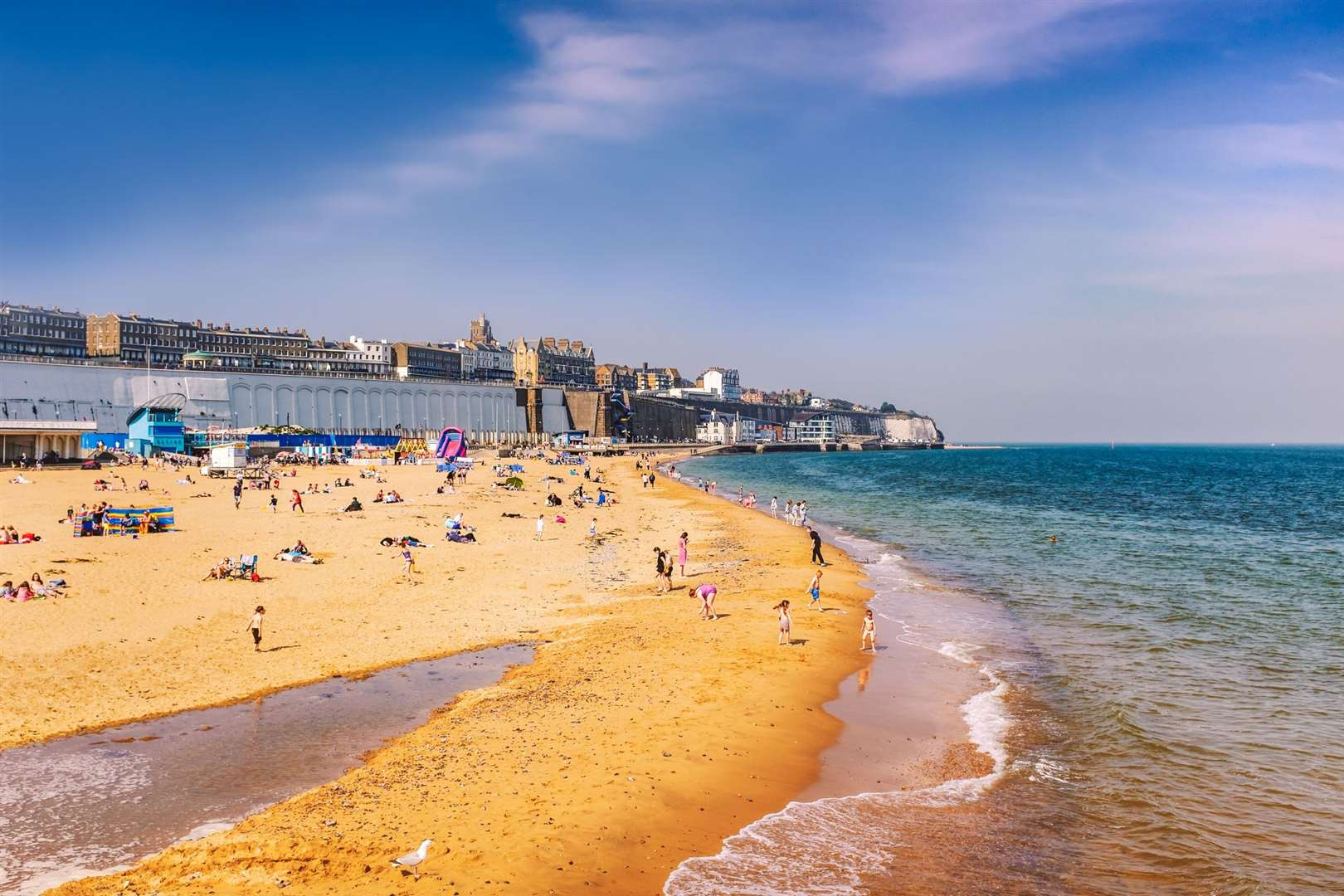 Ramsgate Main Sands, pictured on Easter Bank Holiday last year